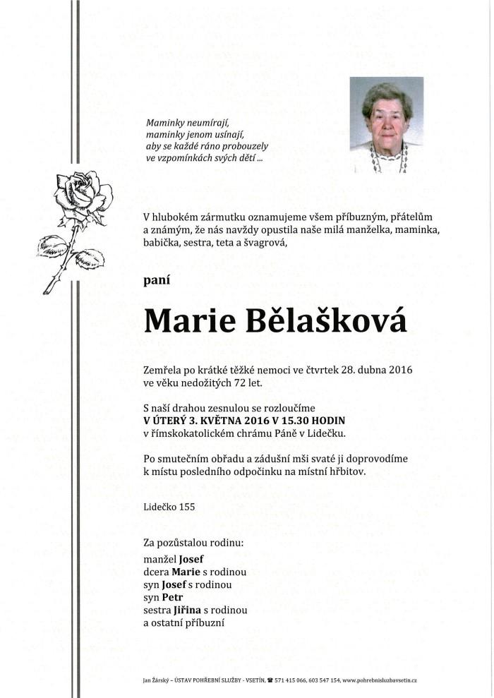 Marie Bělašková