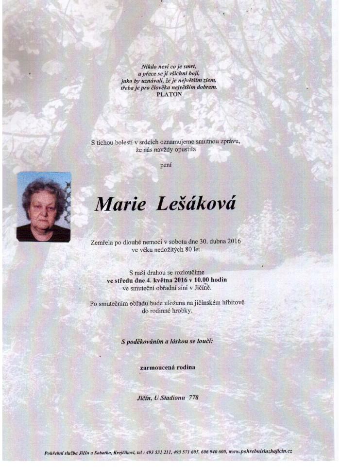Marie Lešáková