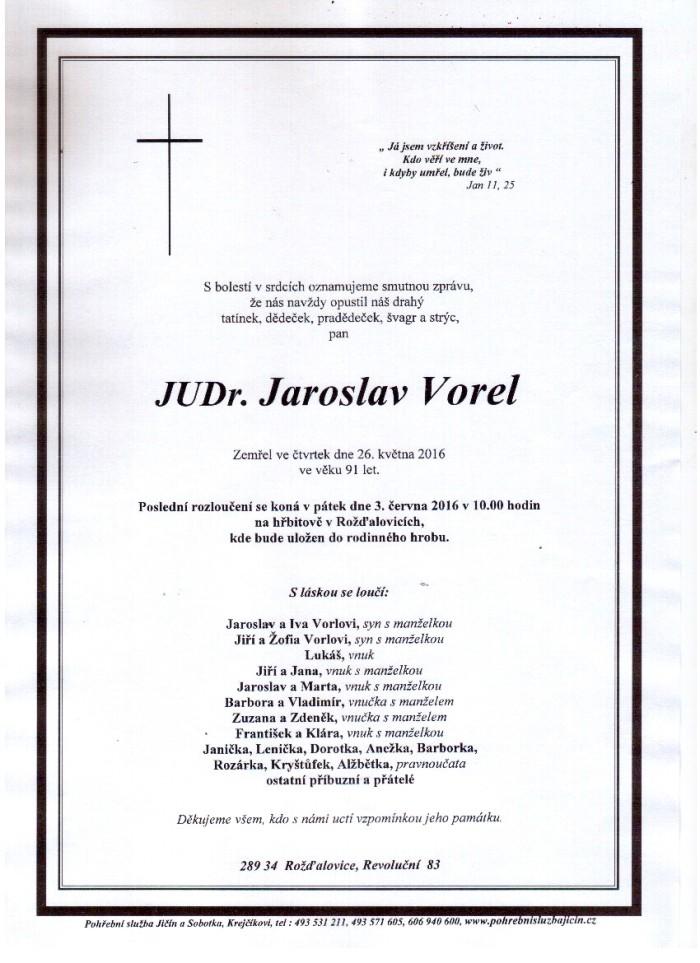 JUDr. Jaroslav Vorel