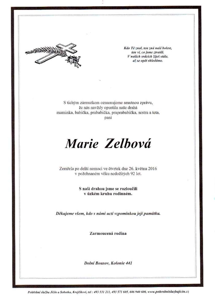 Marie Zelbová