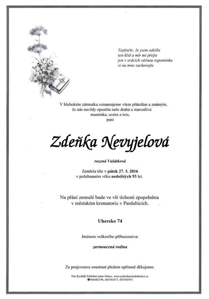 Zdeňka Nevyjelová