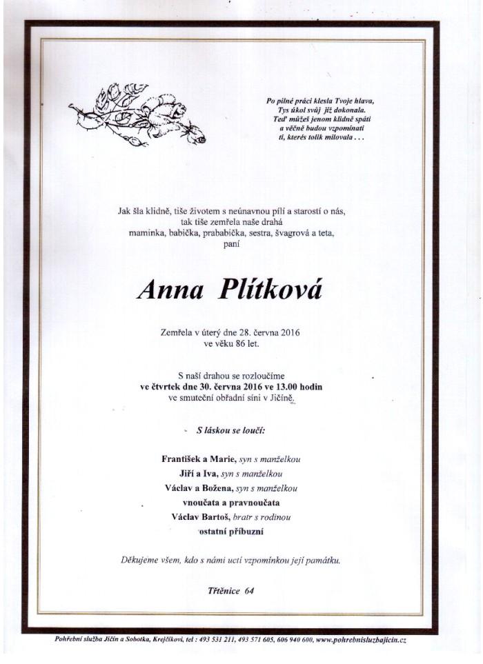 Anna Plítková