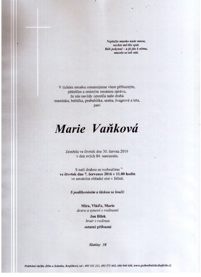 Marie Vaňková
