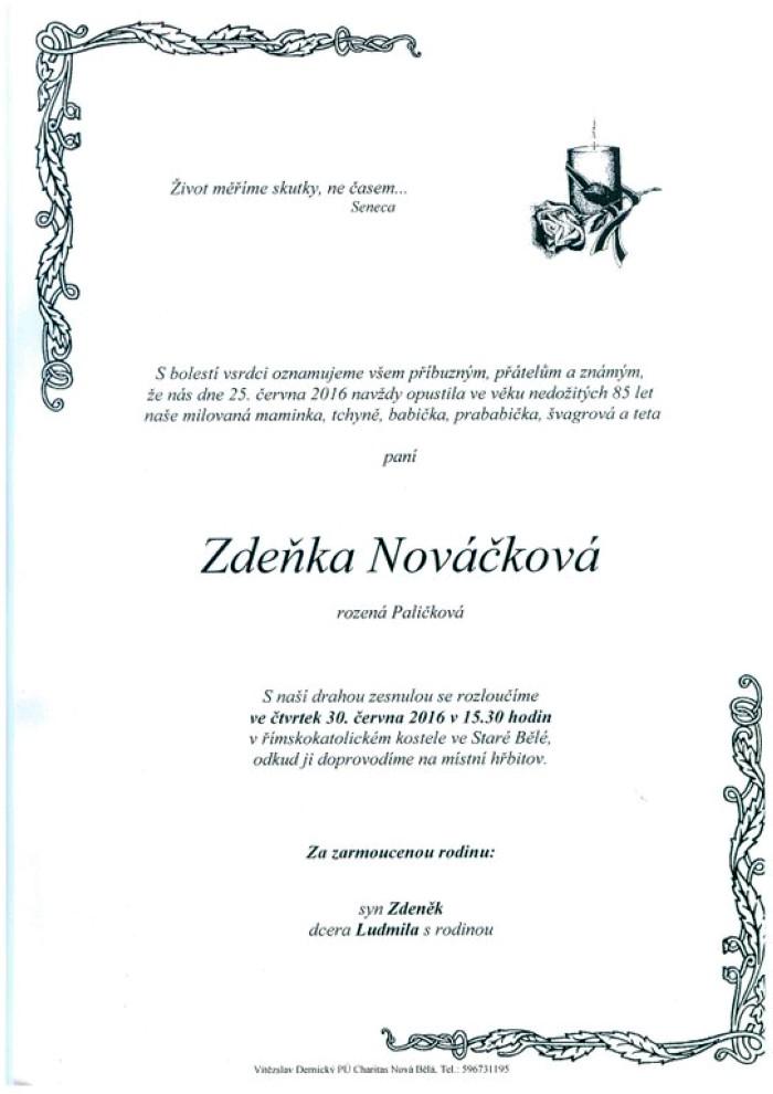 Zdeňka Nováčková
