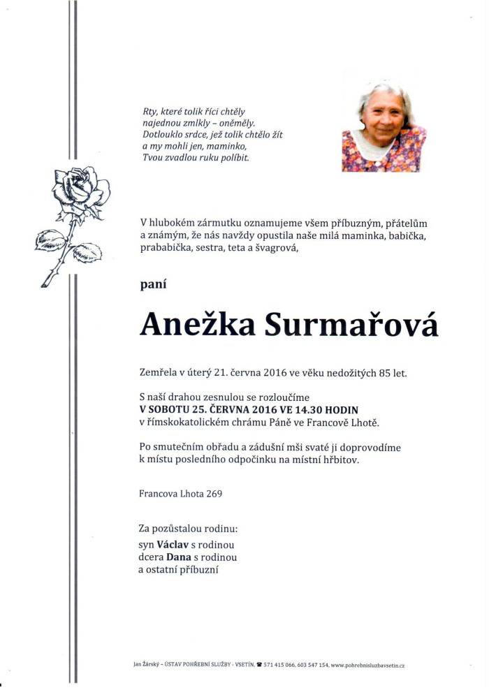 Anežka Surmařová