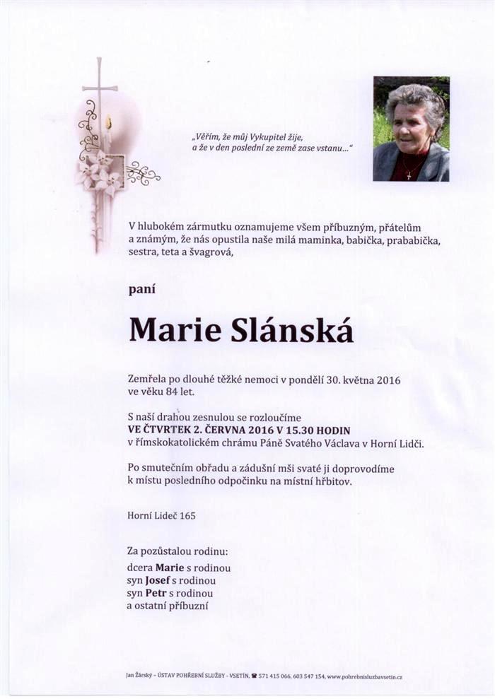 Marie Slánská