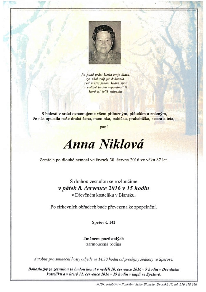 Anna Niklová