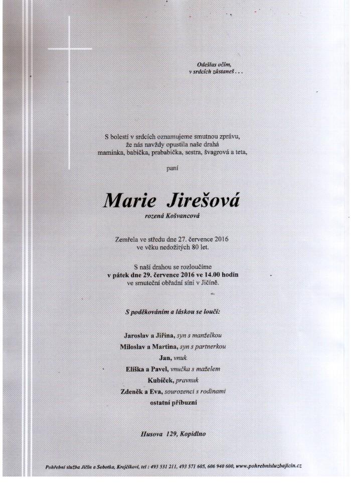 Marie Jirešová