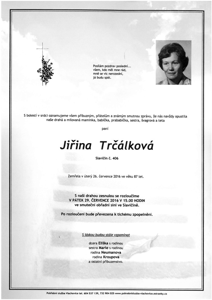 Jiřina Trčálková