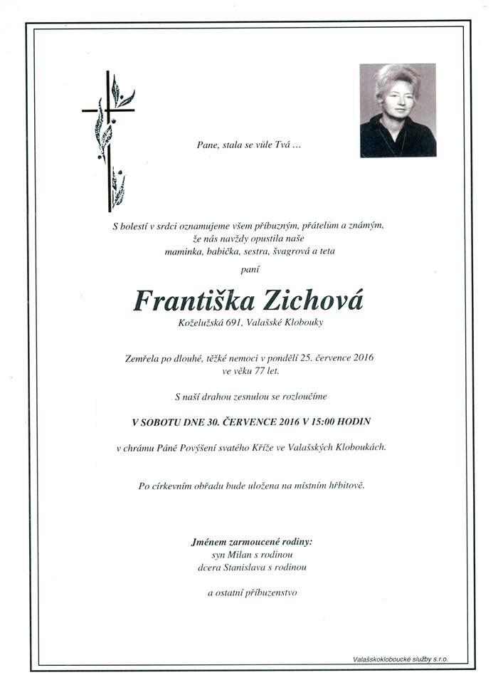 Františka Zichová