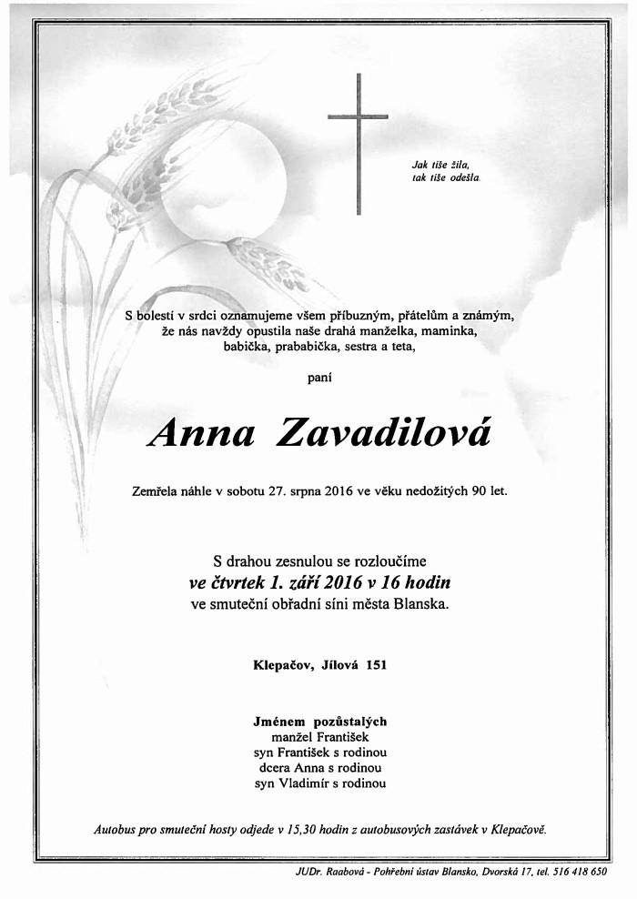 Anna Zavadilová
