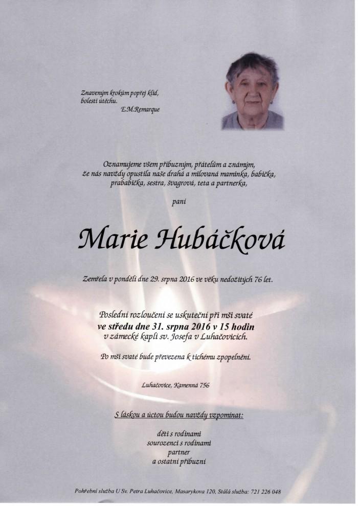 Marie Hubáčková