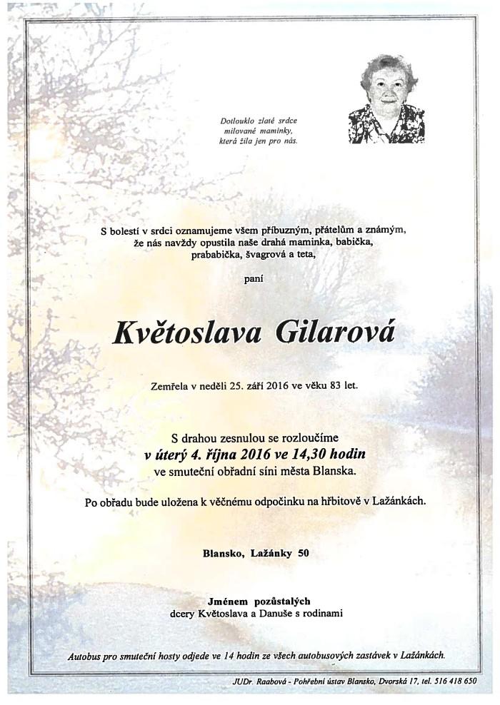 Květoslava Gilarová