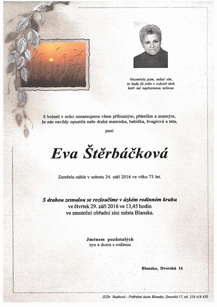 Eva Štěrbáčková