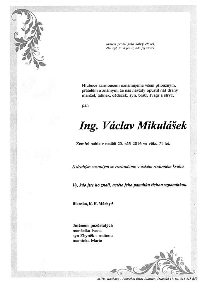 Ing. Václav Mikulášek