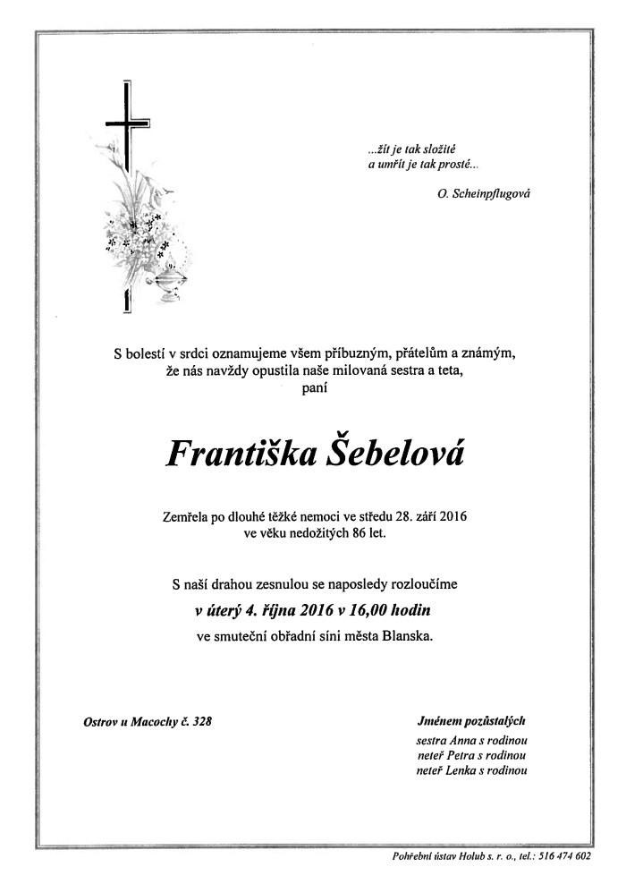 Františka Šebelová