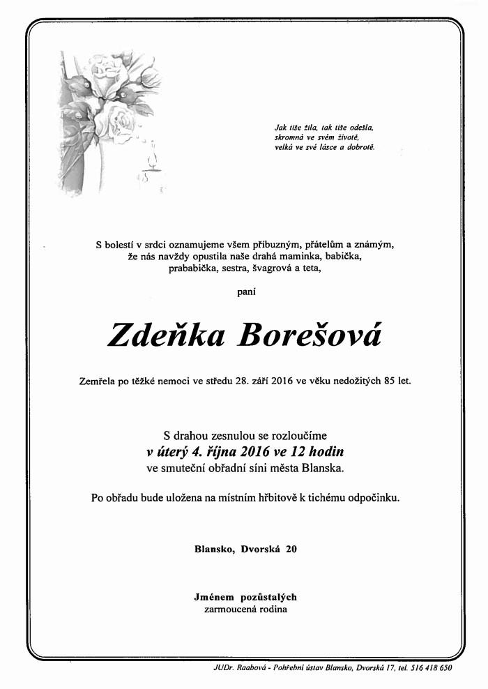 Zdeňka Borešová
