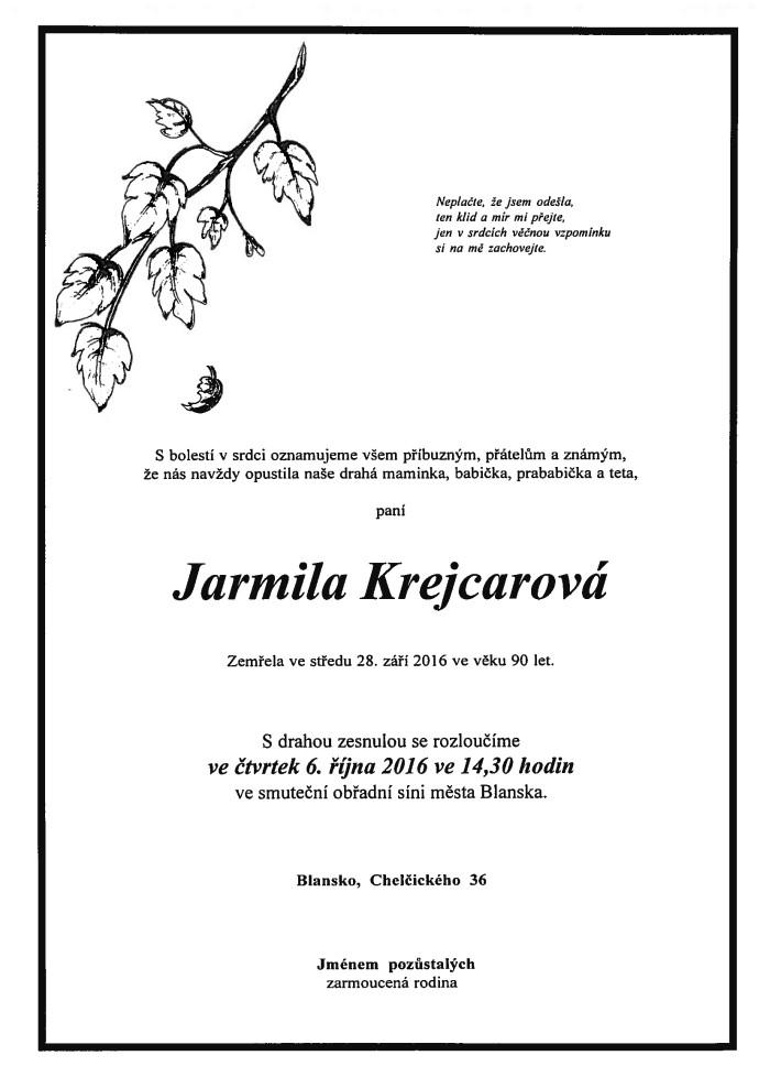 Jarmila Krejcarová