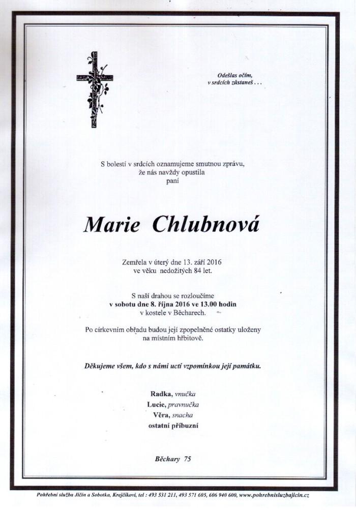 Marie Chlubnová