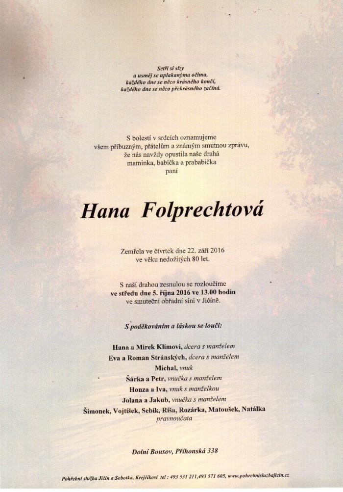 Hana Folprechtová
