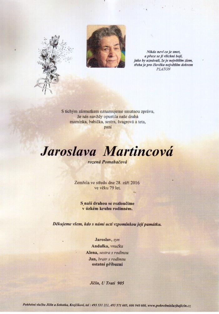 Jaroslava Martincová