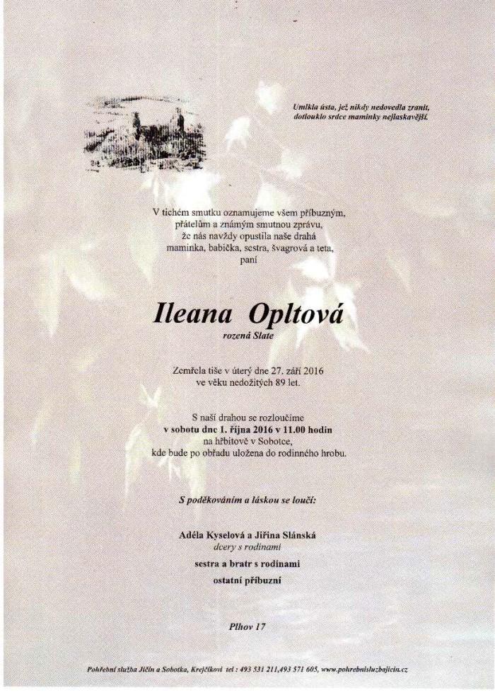 Ileana Opltová