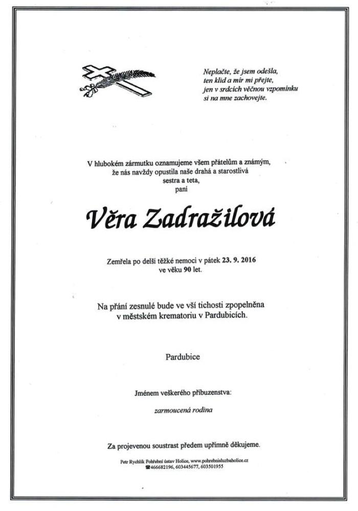 Věra Zadražilová