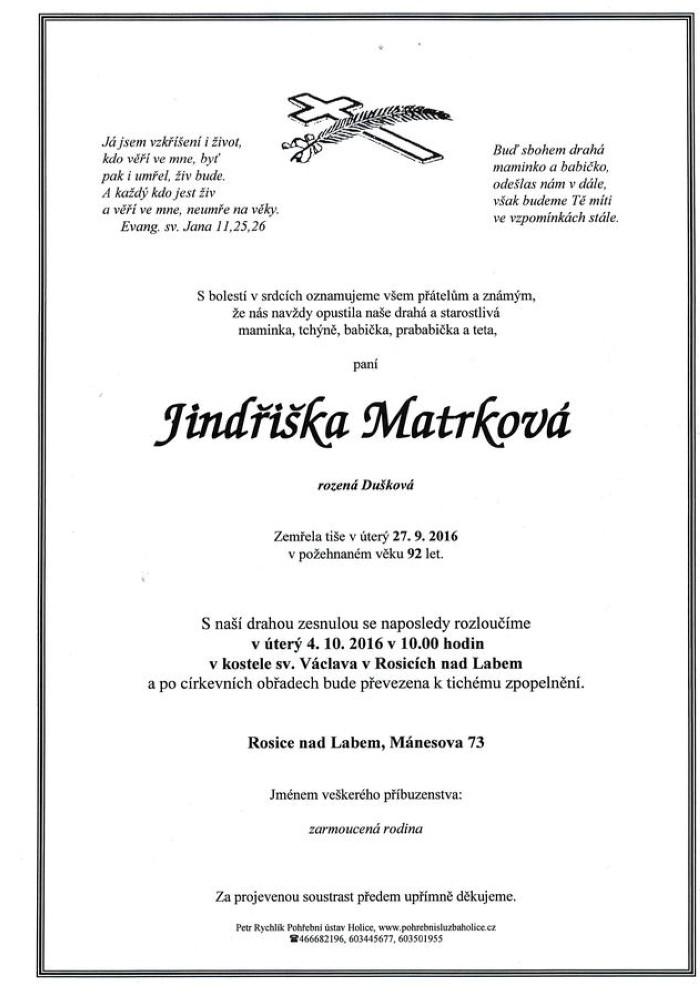 Jindřiška Matrková
