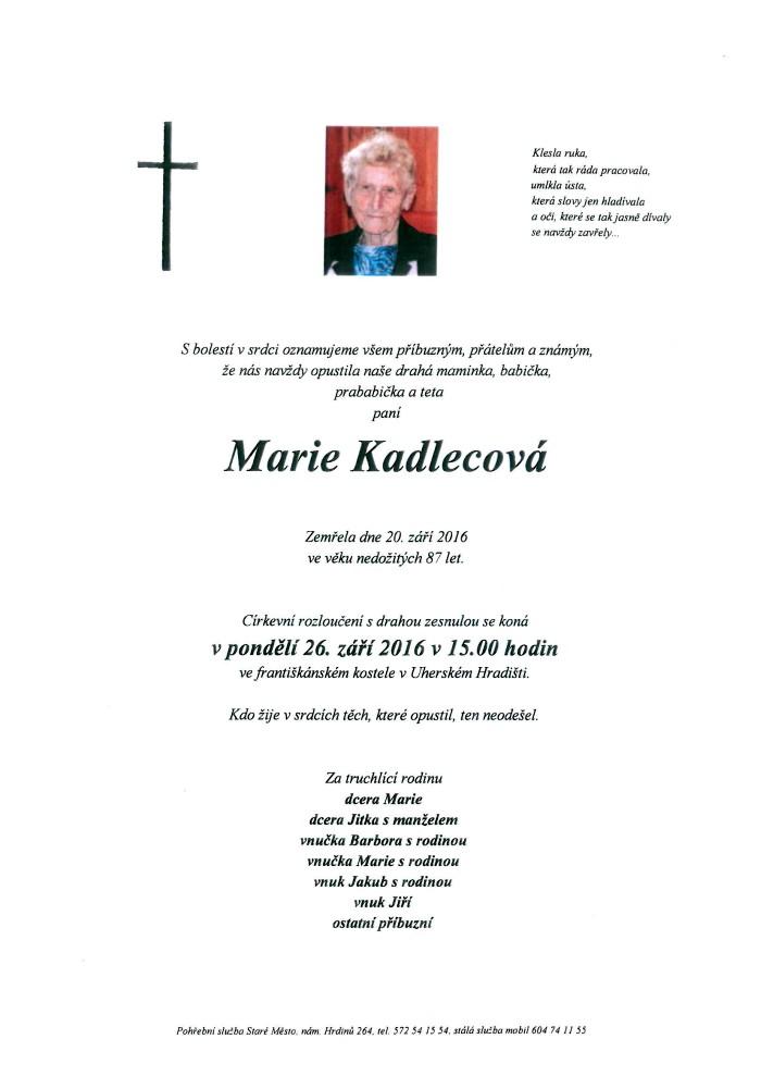 Marie Kadlecová