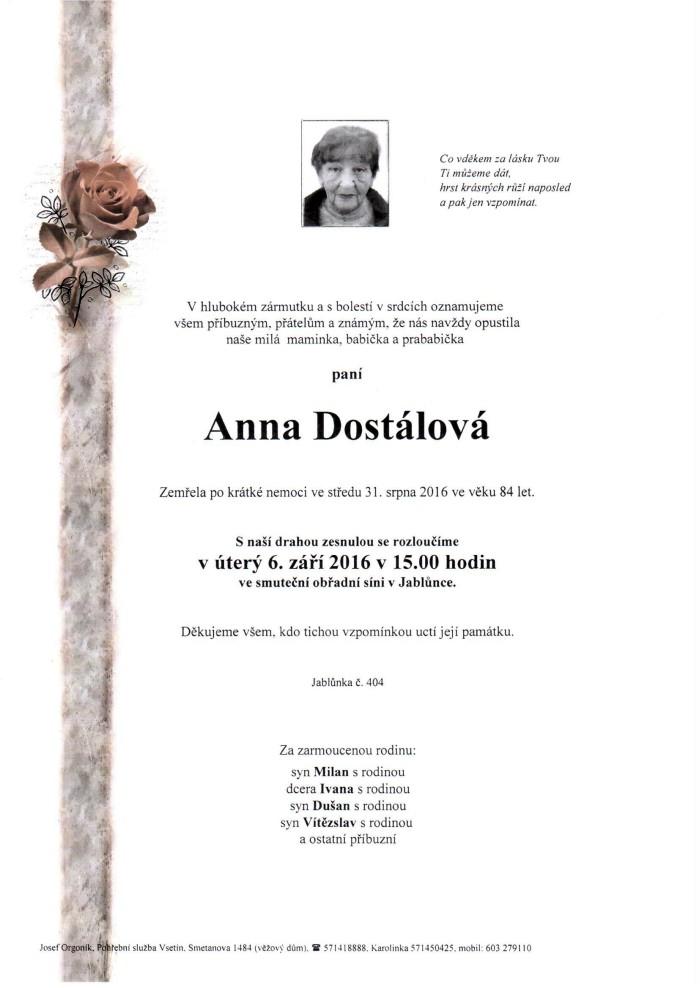 Anna Dostálová