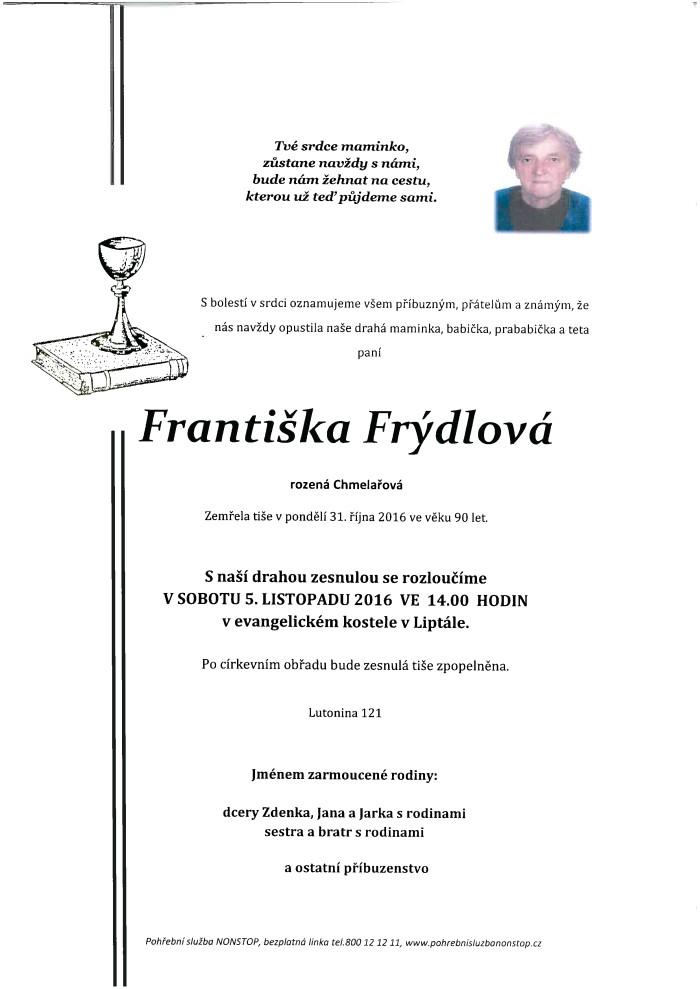 Františka Frýdlová