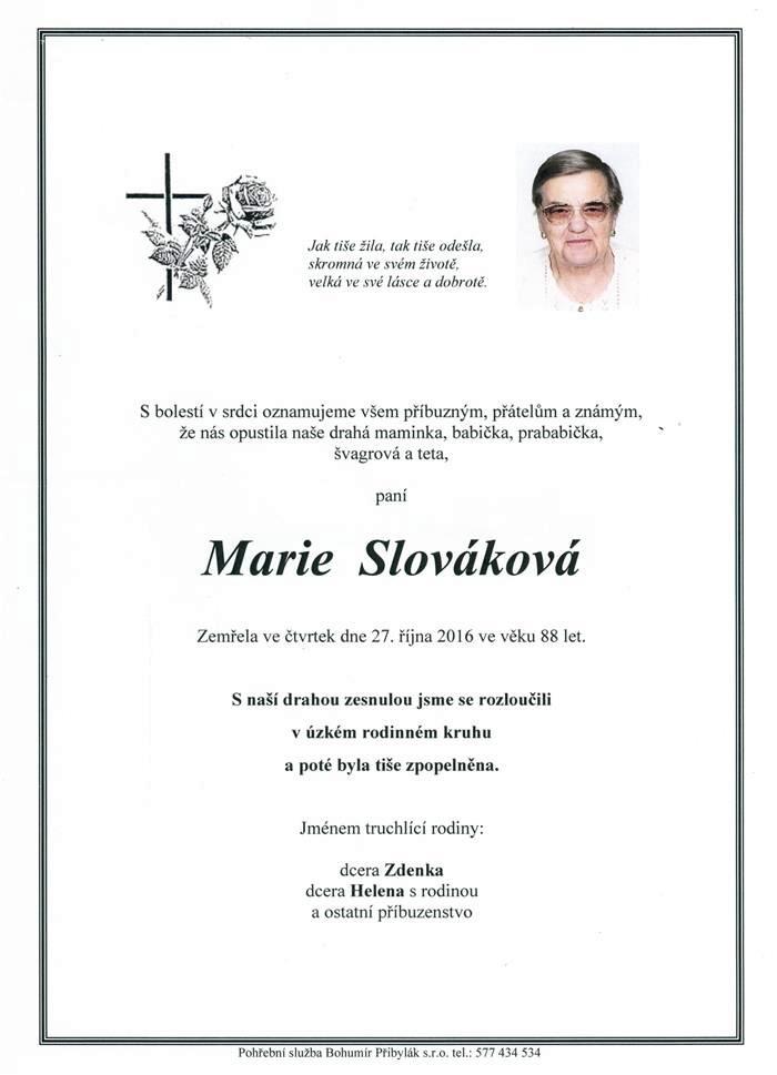 Marie Slováková