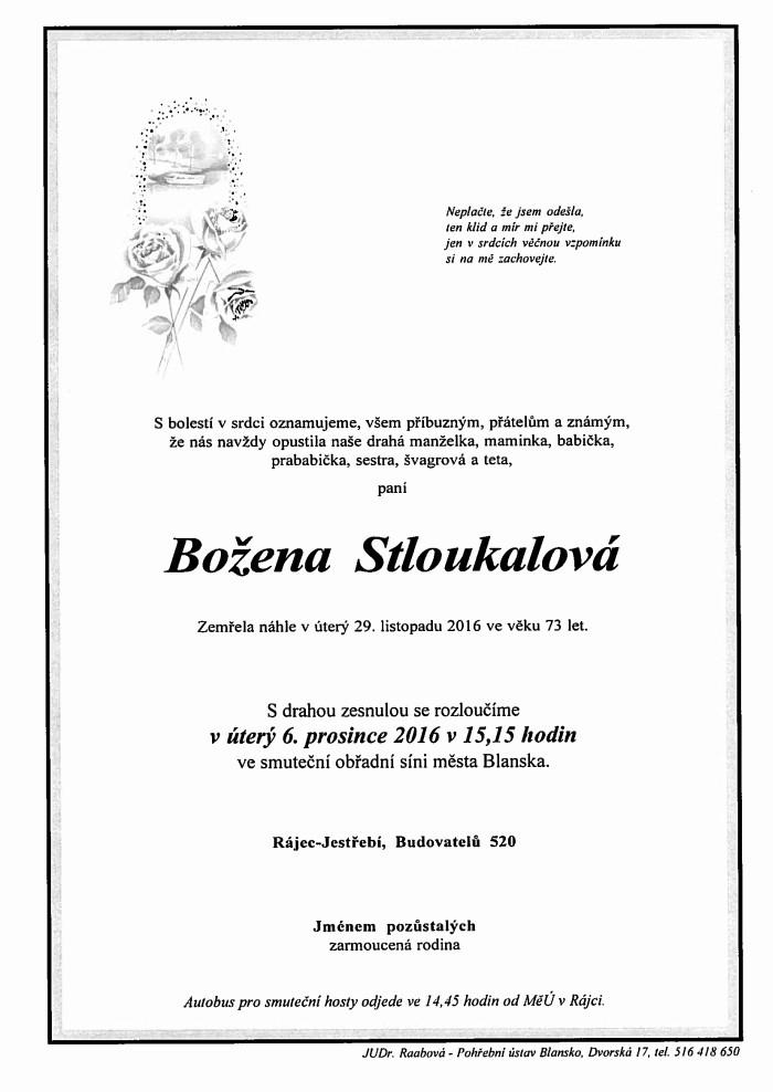 Božena Stloukalová