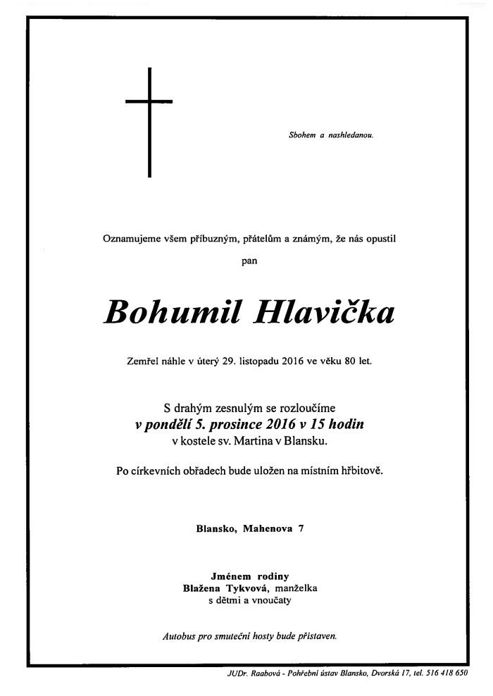 Bohumil Hlavička