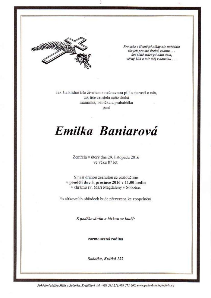 Emilka Baniarová
