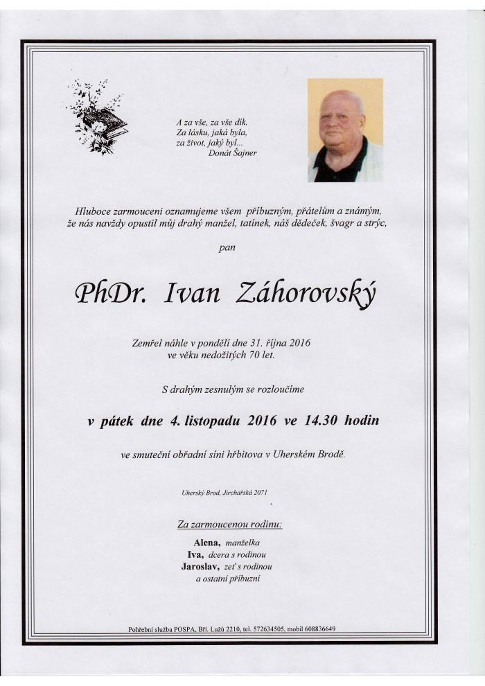 PhDr. Ivan Záhorovský