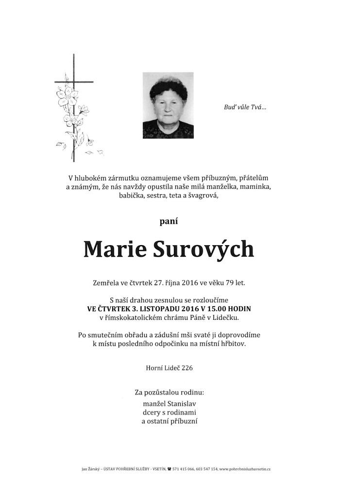 Marie Surových