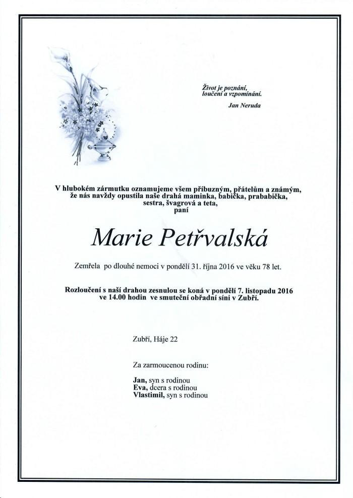 Marie Petřvalská