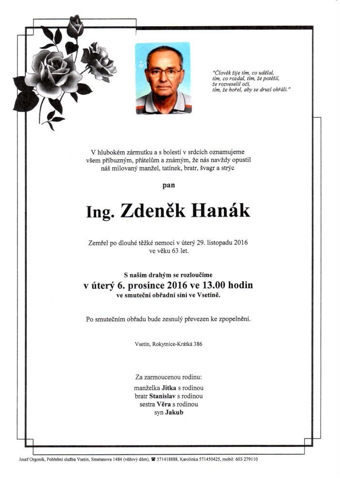 Ing. Zdeněk Hanák
