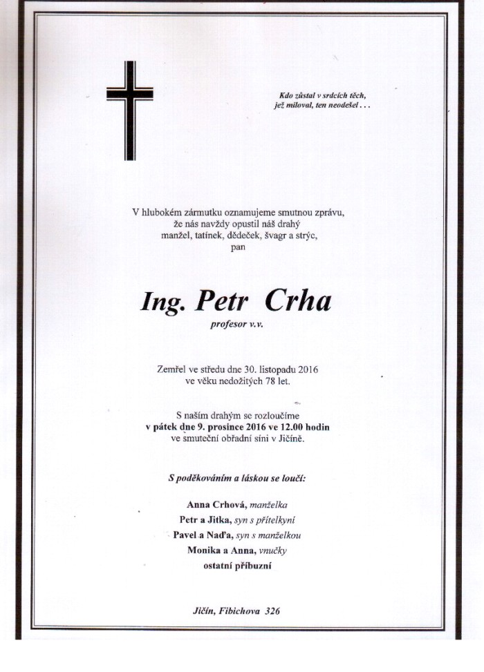Ing. Petr Crha