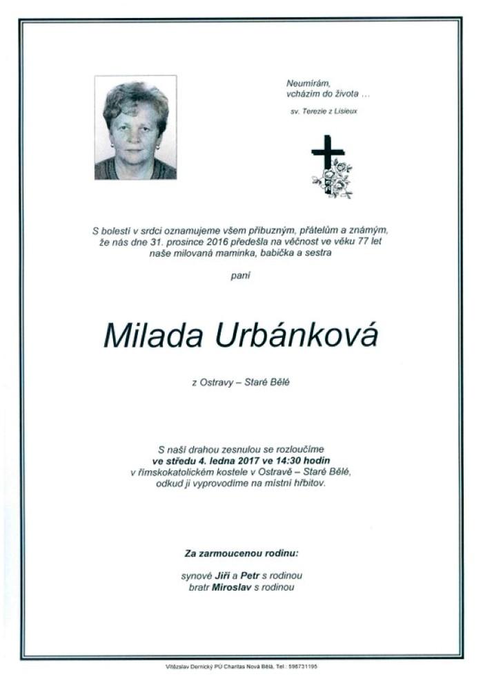 Milada Urbánková