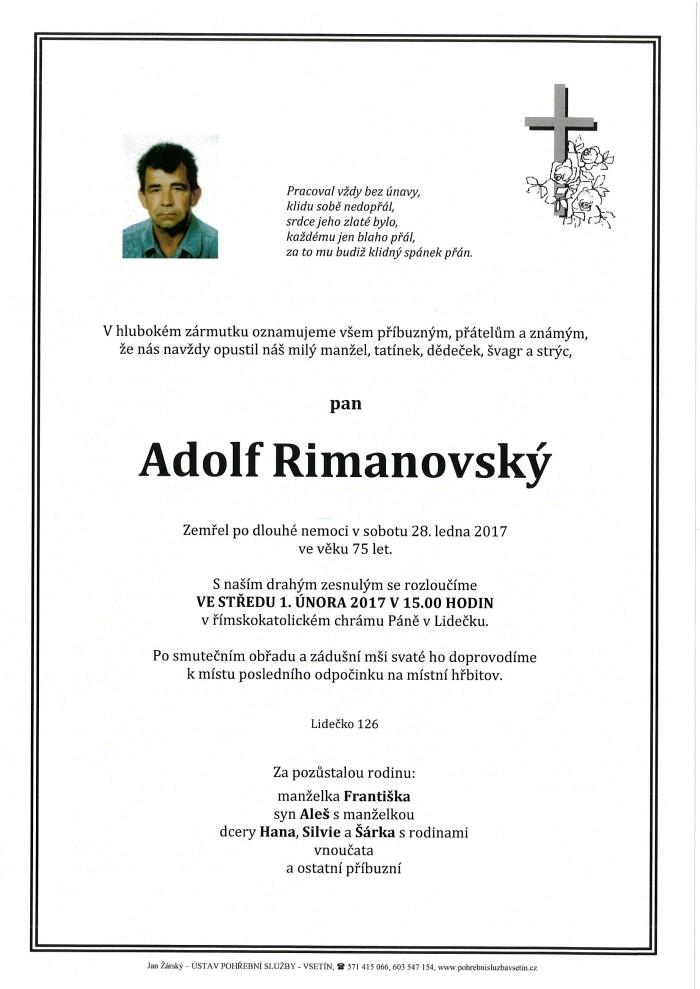 Adolf Rimanovský