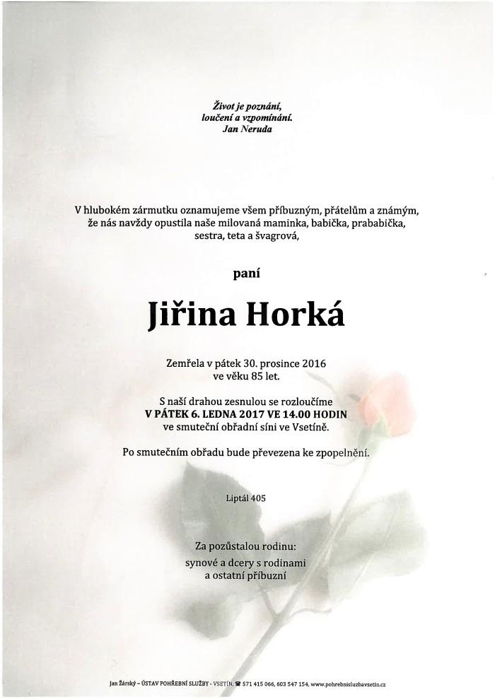 Jiřina Horká