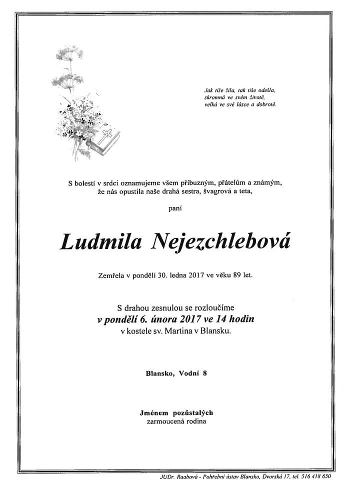 Ludmila Nejezchlebová