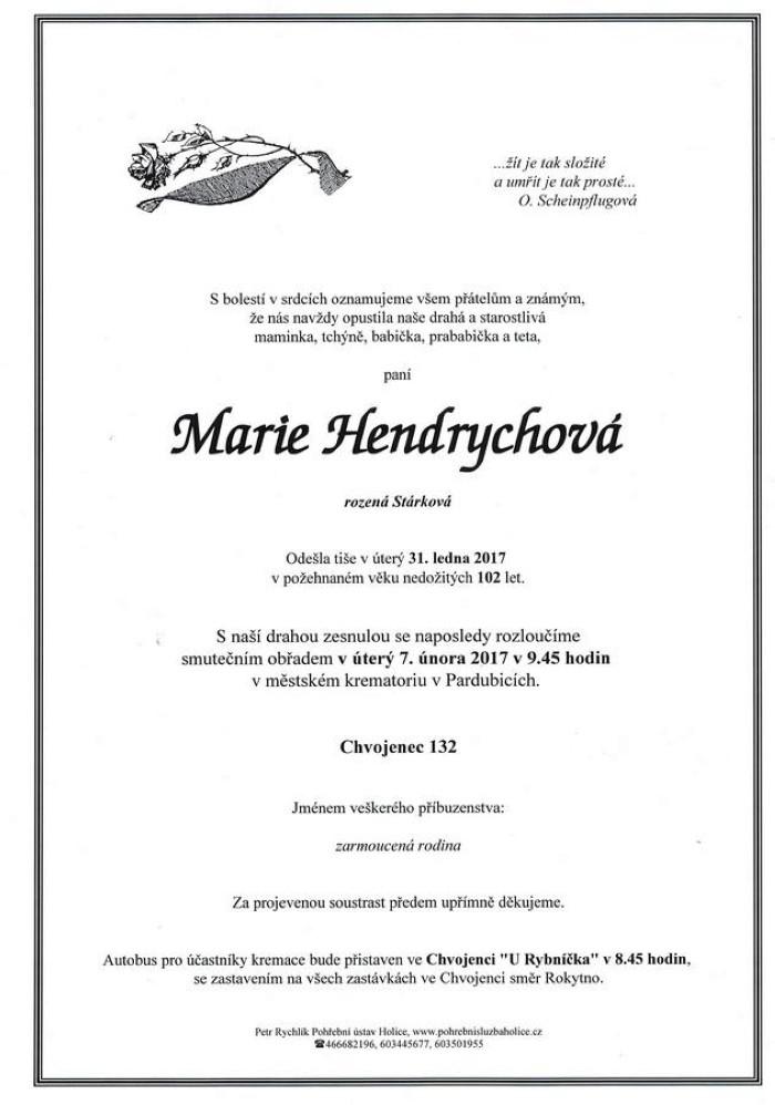 Marie Hendrychová