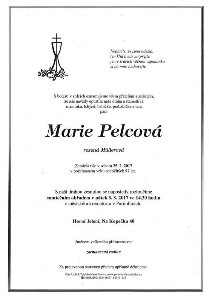 Marie Pelcová