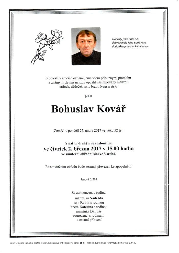 Bohuslav Kovář