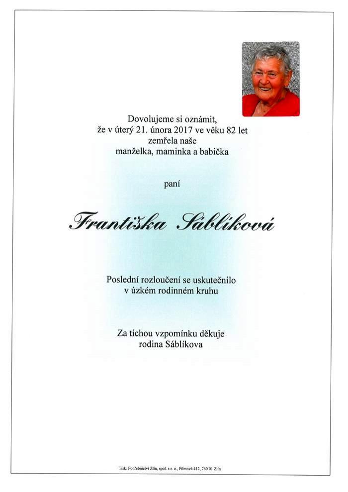 Františka Sáblíková
