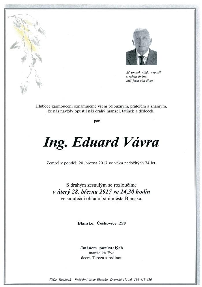 Ing. Eduard Vávra