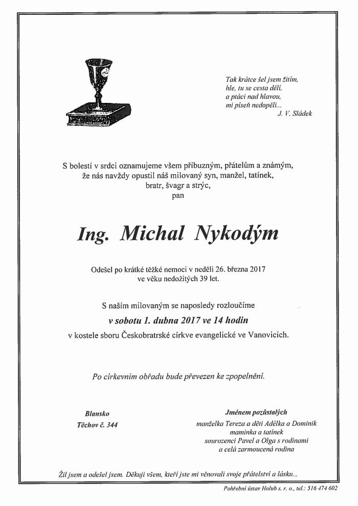 Ing. Michal Nykodým